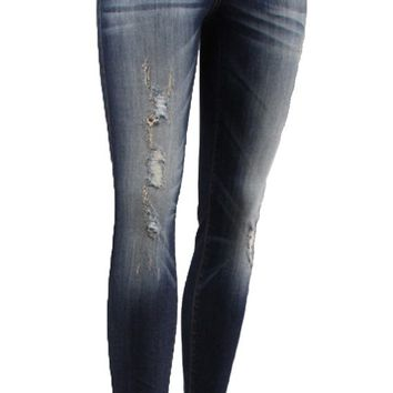 Flying Monkey Zuni River Distressed High Rise Skinny Jeans