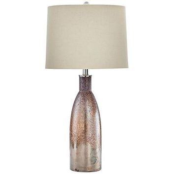 Bernadine Brown Glass Table Lamp - #1W381 | Lamps Plus