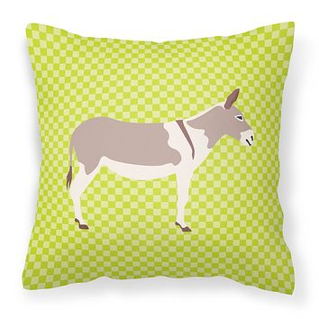 Australian Teamster Donkey Green Fabric Decorative Pillow BB7672PW1414