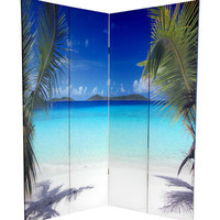 Oriental Furniture 6' Tall Double Sided Ocean Room Divider