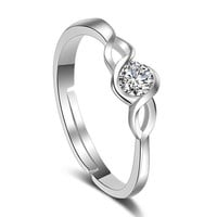 Silver Love Melody Ring
