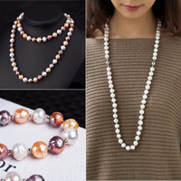 Shiny Gift New Arrival 925 Silver Pearls Stylish Jewelry Necklace [4914861316]