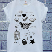 Hot Edition shirt on Tatto Harry Styles one direction available for t shirt mens and t shirt woman size S,M,L,XL,XXL