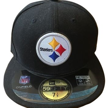 Pittsburgh Steelers New Era 59Fifty NFL On Field Headwear Mens Hat Fitted 7 1/8