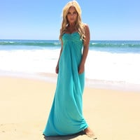 Kolinka Maxi Dress in Sea Foam By SKY