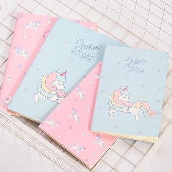 Maiden Unicorn B5 A5 Notebook Diary Book Exercise Composition Notepad Escolar Papelaria Gift Stationery