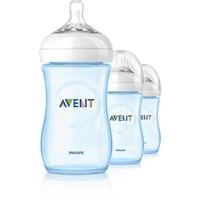 Philips AVENT SCF693/39 BPA Free Natural 9 Ounce Polypropylene Bottles, Blue, 3-Pack - Walmart.com