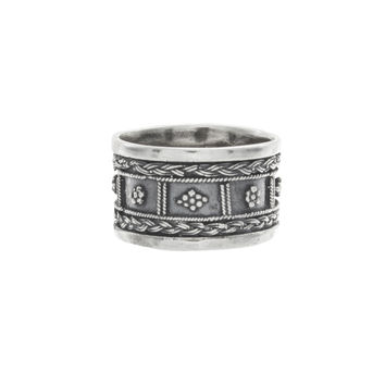 Flower Indian Band Knuckle Ring