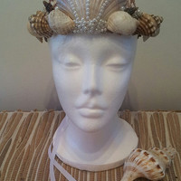 Seashell crown, Beach wedding hair accessories, Mermaid Crown, Seashell headband