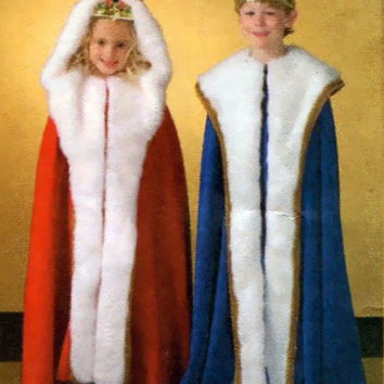 Unisex Child Kids Hooded CLOAKS CAPES Children's Reenactment Costume Dress-Up Royalty Size 3 4 5 6 7 8 Butterick 4316 UNCUT Sewing Patterns