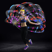 Kuangmi LED Colorful Crossfit  Jump Rope Speed for Fitness Weight Women Kids Skipping Rope Adjustable