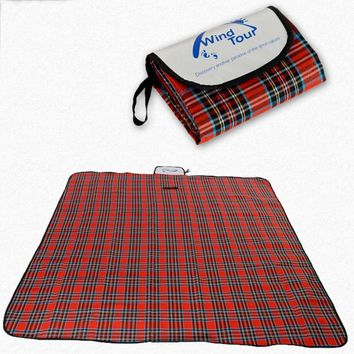 7 Size Outdoor Beach Picnic Folding Camping Mat Multiplayer Waterproof Sleeping Camping Pad Mat Moistureproof Plaid Blanket