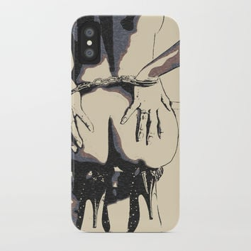 Good, bad girl - bdsm, bondage play iPhone Case by hmdesignspl