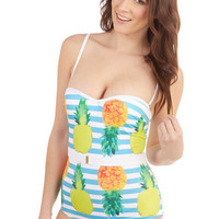 ModCloth Vintage Inspired Love is Wading One-Piece Swimsuit in Pineapples