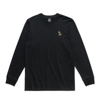 OWL LOGO PATCH LONGSLEEVE - BLACK