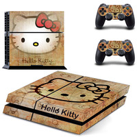 Hello kitty PS4 decal for console and controllers skin sticker