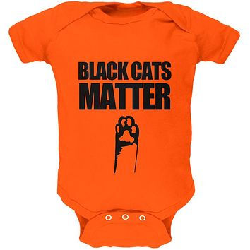Halloween Black Cats Matter Soft Baby One Piece