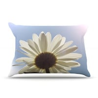 "Angie Turner ""Daisy Bottom"" Sky Flower Pillow Sham"