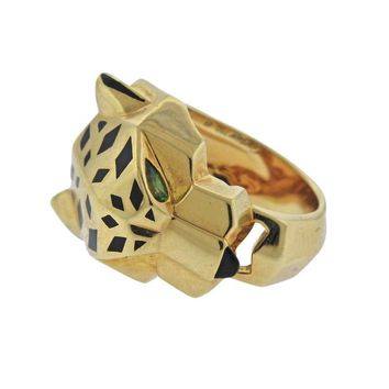 Cartier Panthere Emerald Gold Ring