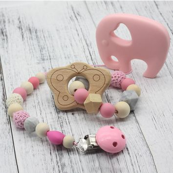 Baby Pacifier Clip & Chewable Rattle Holder