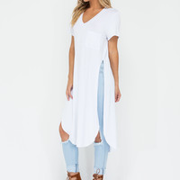 Slit Up Take Notice T-Shirt Midi Dress GoJane.com