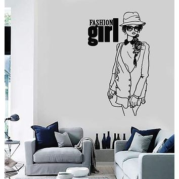 Wall Stickers Vinyl Decal Teen Girl Fashion Style Sexy Woman Unique Gift (ig1750)