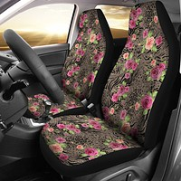 Floral Animal Print Car Seat Covers