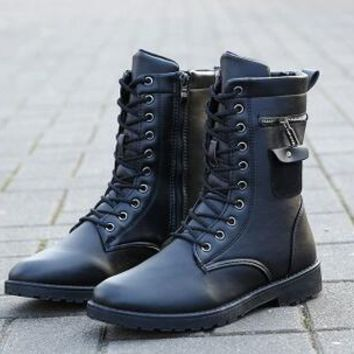 Punk Rock Military Boots