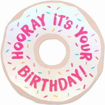 Donut Birthday Die Cut Card