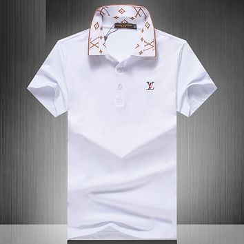 Louis Vuitton LV  Casual Simple Men Short Sleeve  Shirt Top Tee