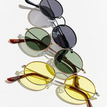 Slim Oval Metal Sunglasses | Urban Outfitters