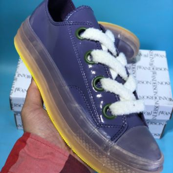 DCCK Converse X JW Anderson Candy Crystal Skate Shoes Purple Yellow