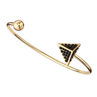 Pave Arrow and Ball Cuff Bracelet, Golden/Black - Jules Smith - Gold (ONE SIZE)