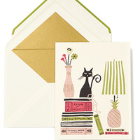 kate spade new york greeting card kitty cat