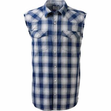 C.E. Schmidt® Men's Western Flannel Sleeveless Shirt, Blue