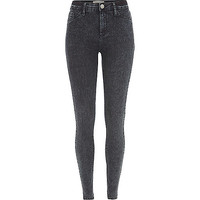 River Island Womens Dark acid wash Molly jeggings