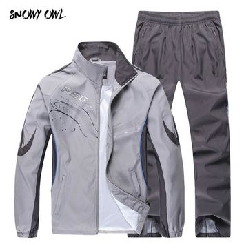 2018 Men Running Suits Plus Size Mens Sports Suits high quality  Men Tracksuit Sport Suits Men Running Jogging Sets h79