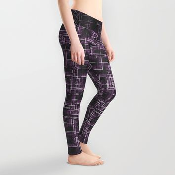The Maze - Lilac Leggings by Alice Gosling