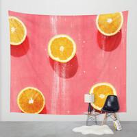 fruit 5 Wall Tapestry by LEEMO