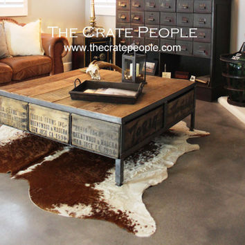 Zoria Farm Coffee Table – Reclaimed Furniture using Vintage Wood Crates