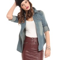 Oxblood Moto Skirt - SALE | GYPSY WARRIOR