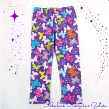 Girls Cute Butterfly Print Leggings