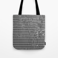 Broken Stripes & Dots Tote Bag by duckyb