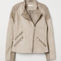 Biker Jacket - Light taupe - Ladies | H&M US