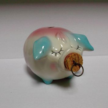 Hull Pottery Vintage 1957 Corky Pig Bank