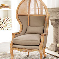 Old Hickory Tannery - Cane Balloon Chair - Horchow