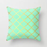 Moroccan Mint Throw Pillow by Courtney Danielle Smith