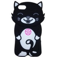 LliVEER Black Iphone 5 3D Cute Cartoon Star Cat Animal Silicon Case Skin Protective Cover Compatible for Apple Iphone 5 5G 5th