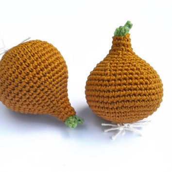 Crochet Onion (1pc) - Play Food - Learning toy