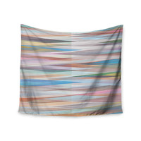 """Mareike Boehmer """"Nordic Combination II"""" Rainbow Abstract Wall Tapestry"""